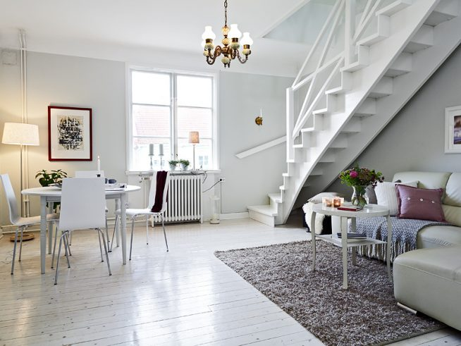 Дизайн двухуровневой квартиры-студии