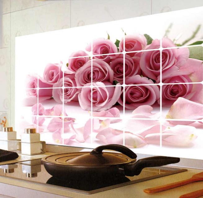 Наклейка для плитки с изображением цветов