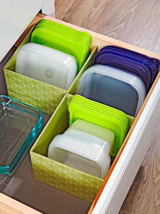 Кухонные подносы в ящиках