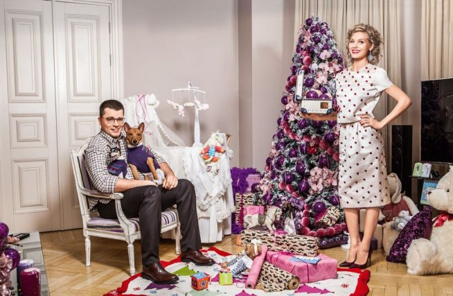 Гарик Харлмов и Кристина Асмус в своей квартире
