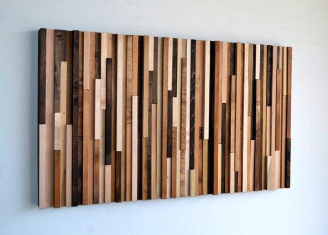 Панно из деревянных реек