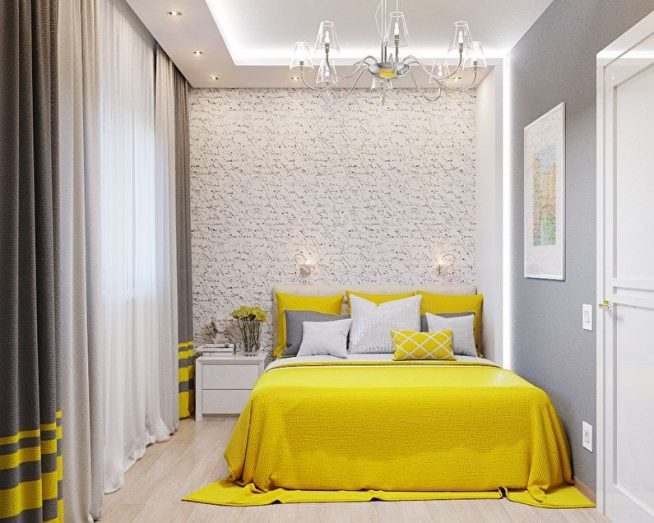 Комната с акцентом на кровати