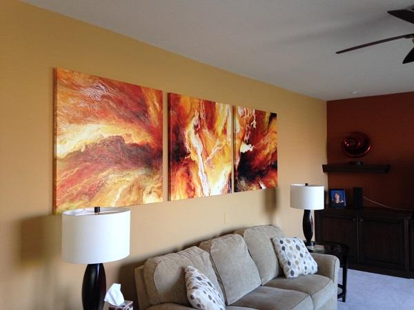 Триптих в гостиной