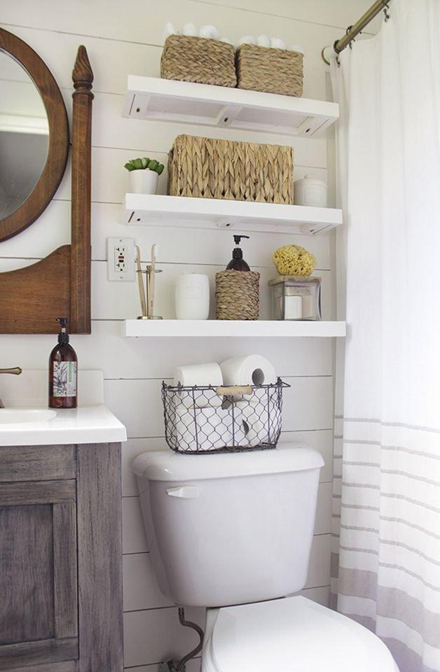 идеи хранения в маленькой ванной