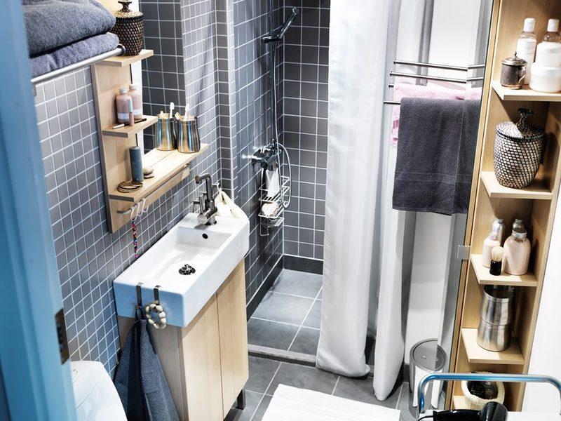 Системы хранения в маленькой ванной: наводим идеальный порядок