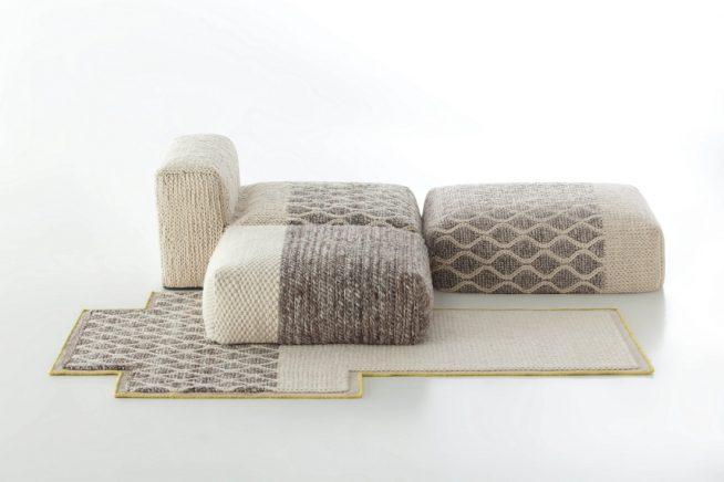 Мебель в вязаных чехлах