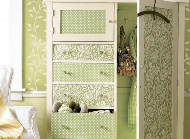 обойное декорирование мебели