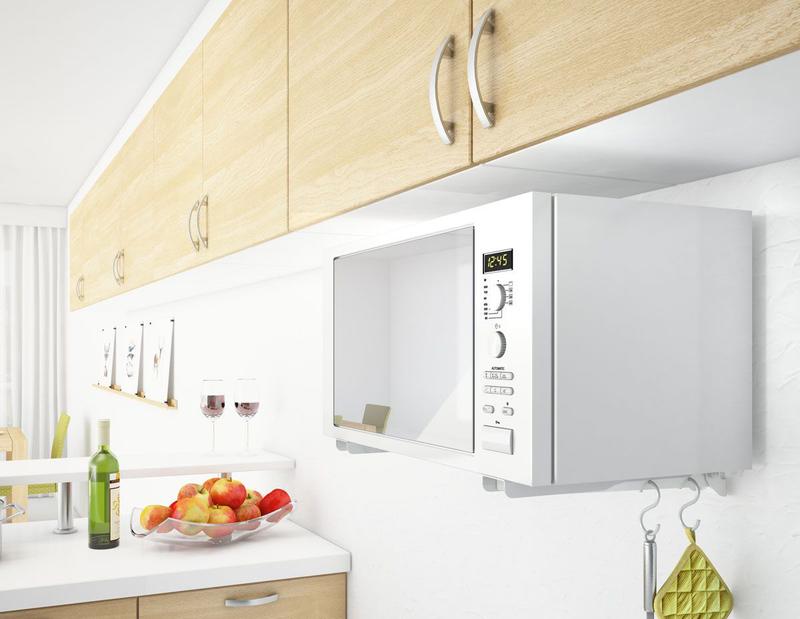 20 идей размещения микроволновки на кухне (фото): куда поставить незаменимый прибор