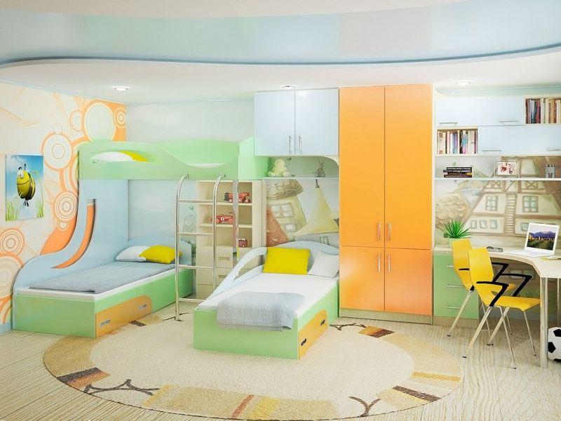 Одна комната, много детей: идеи обустройства детской