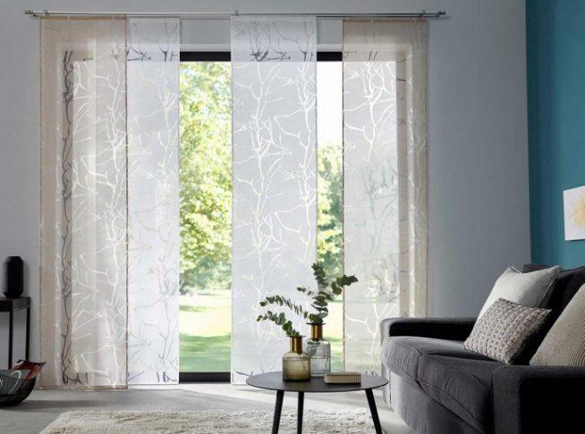 Раздвижные шторы полосами