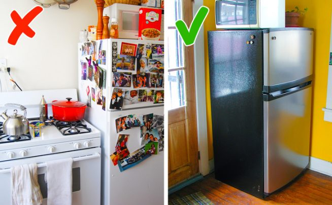 Где установить холодильник