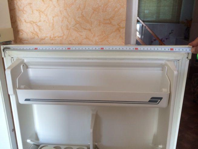 Замер дверцы холодильника