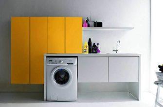 стиральная машинка в маленькой квартире