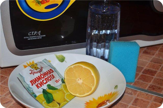 Лимонная кислота для чистки микроволновки