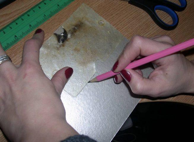 Подготовка новой слюдяной пластины