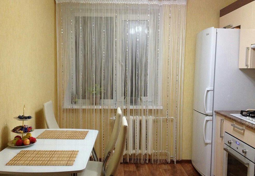 шторы нитки на кухне фото того, что