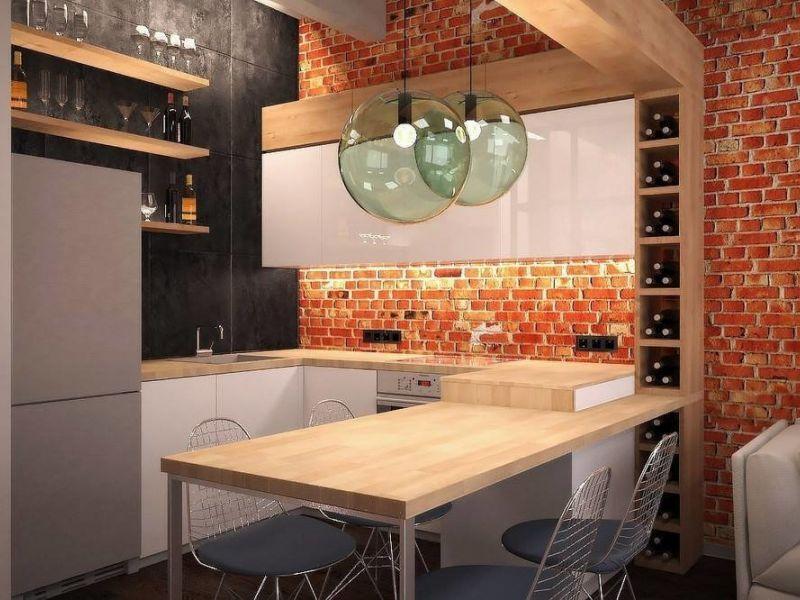 20+ идей обустройства интерьера маленькой кухни в стиле лофт