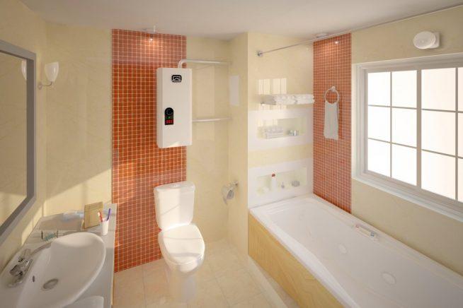 Электрический котел в ванной комнате