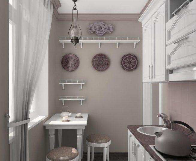 Маленькая кухня в стиле прованс