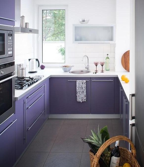Дизайн узкой кухни буквой П