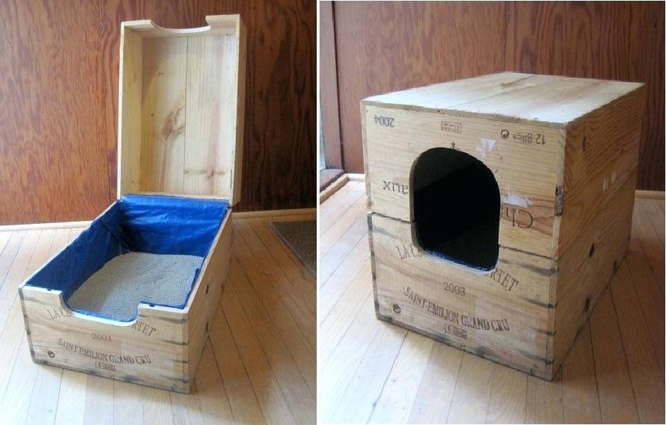 Как замаскировать кошачий лоток, чтобы он стал предметом интерьера