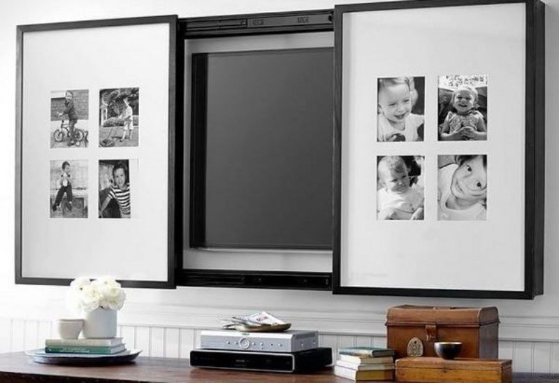 5 идей, как спрятать в интерьере большой телевизор