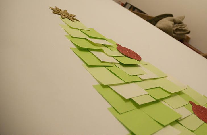 12 идей оригинальных елок без использования живых вырубленных деревьев