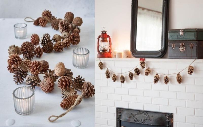 7 идей, как использовать шишки для украшения дома